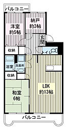 エスポワールSK-B[3階]の間取り