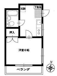 コーポマキムラ[2F号室]の間取り