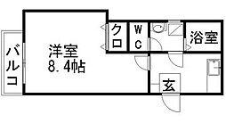 クレフラスト香椎駅東IIA棟[1階]の間取り