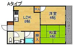 稲垣第三ビル[5階]の間取り