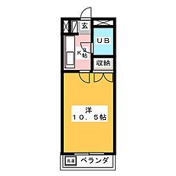 コーポラス城田寺[2階]の間取り
