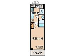 京阪本線 伏見桃山駅 徒歩12分の賃貸マンション 4階1Kの間取り