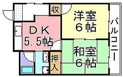 BRUNO住之江公園[2階]の間取り