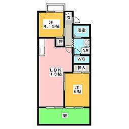 シャンポールY2 B棟[1階]の間取り