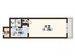 大阪府門真市栄町の賃貸マンションの間取り