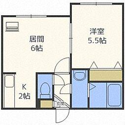 北海道札幌市中央区北五条西21丁目の賃貸マンションの間取り