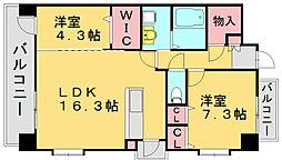 リヴェール伊賀3[2階]の間取り