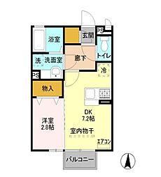 セジュールT・M[2階]の間取り