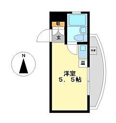 ハートイン竹田町[4階]の間取り