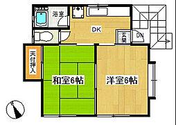 コーポ住野[2階]の間取り
