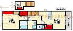 プロムナードII[2階]の間取り