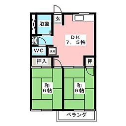 タウニースイートホーム[1階]の間取り