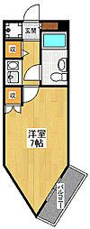 キューブ武庫川7[206号室]の間取り