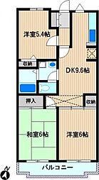 コートハウス新川崎[5階]の間取り