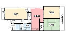 イオ甲子園1番館[3階]の間取り