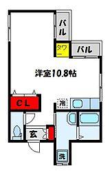 シャノワール宗像[1階]の間取り