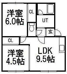 メゾン・ド・オクトーブル[3階]の間取り