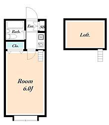 ローズガーデンR50番館[2階]の間取り