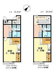 兵庫県加西市北条町古坂6丁目の賃貸アパートの間取り