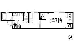 ビーグルマンション[4階]の間取り