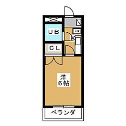 アーバンフラッツ静岡駅前[3階]の間取り
