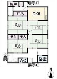 [一戸建] 愛知県東海市富木島町植ノ口 の賃貸【/】の間取り