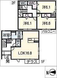 [一戸建] 愛知県名古屋市中川区江松1丁目 の賃貸【/】の間取り