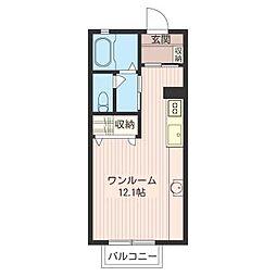 キャピタル[2階]の間取り