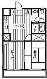 第三嶋村マンション[2階]の間取り