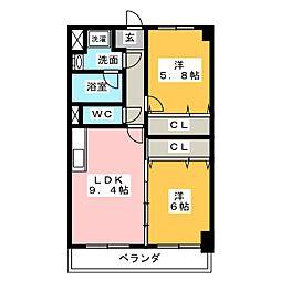 栄和ハイツII[3階]の間取り