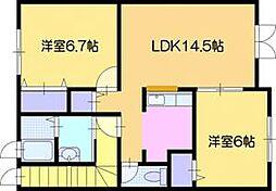 Sanando[2階]の間取り