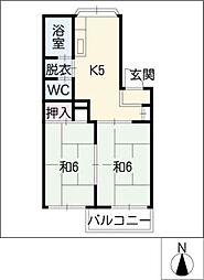 モナーク山清[2階]の間取り