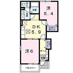 [テラスハウス] 愛媛県松山市久米窪田町 の賃貸【/】の間取り