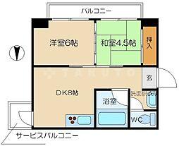 豊崎レジデンス[3階]の間取り