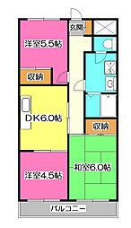 上砂パークマンション[3階]の間取り