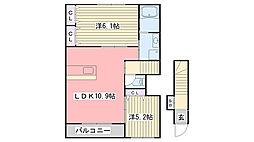 兵庫県加東市南山5丁目の賃貸アパートの間取り