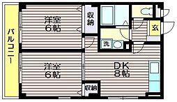 東京都世田谷区給田3の賃貸マンションの間取り