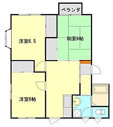 エトワールソヤノ[2階]の間取り