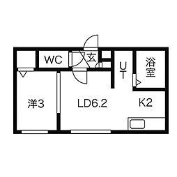ベル・ファーム[3階]の間取り