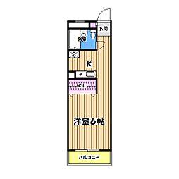 昭島コートエレガンスA棟[4階]の間取り