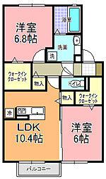 仮)D−room宮田町A[2階]の間取り