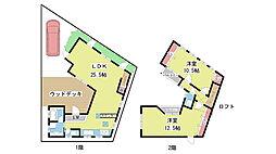 [一戸建] 大阪府豊中市上野西2丁目 の賃貸【/】の間取り