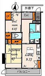 パークサイド千歳台[1階]の間取り