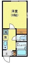東京メトロ丸ノ内線 東高円寺駅 徒歩6分の賃貸アパート 3階1Kの間取り