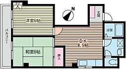 清栄ハイム[201号室]の間取り