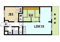 奈良県奈良市秋篠早月町の賃貸マンションの間取り