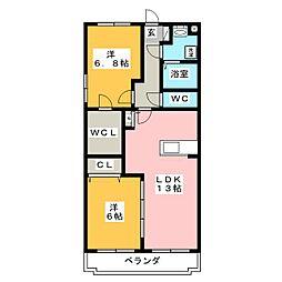 T・WOOD[4階]の間取り