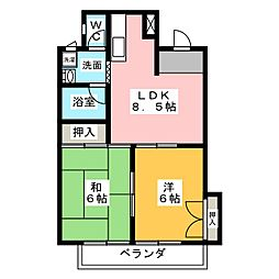 エクセレント小澤[3階]の間取り