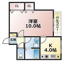 コンフォール六甲[2階]の間取り