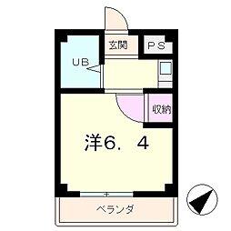 エースマンション[4階]の間取り